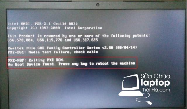 """Nguyên nhân laptop bị lỗi """"boot device not found"""""""