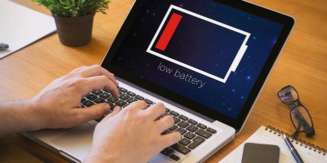 Laptop không nhận được pin có thể do pin bị hư.