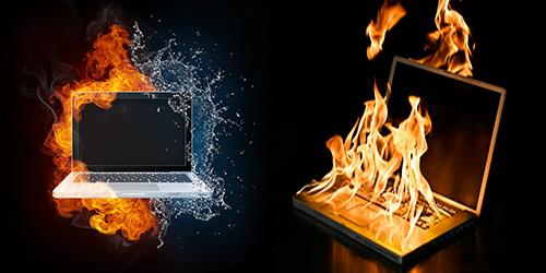 Laptop không nhận pin do máy quá nóng.