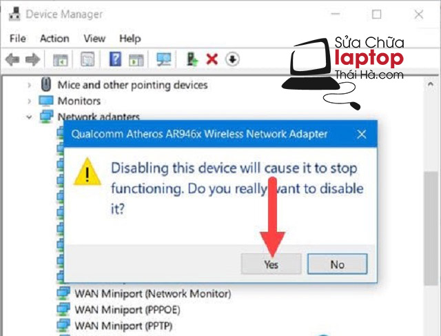 Sửa lỗi không tìm thấy wifi