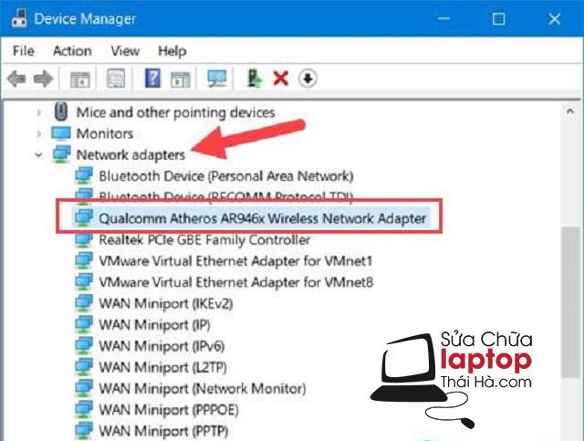 Sửa lỗi laptop không tìm thấy wifi