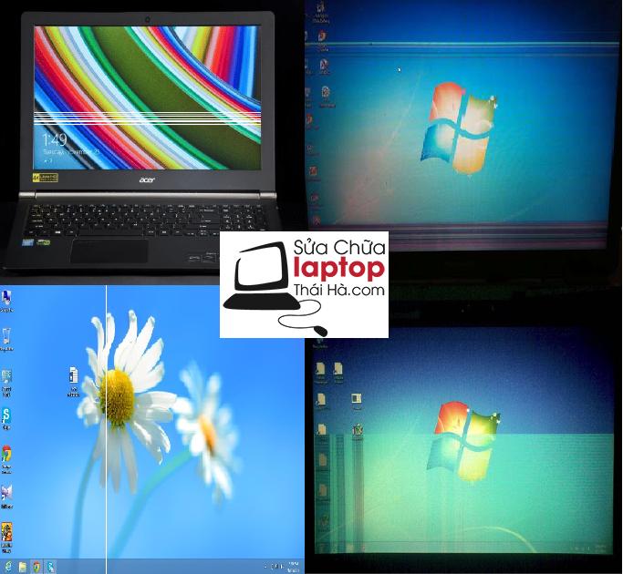 Lỗi màn hình laptop bị kẻ sọc ngang, sọc dọc, đứt nét
